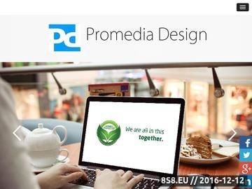 Zrzut strony Promedia Design - Agencja Kreatywna Bydgoszcz - grafika, reklama i animacje