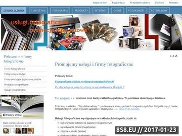 Zrzut strony Fotoksiążka na www.promocjainternetowa.com.pl