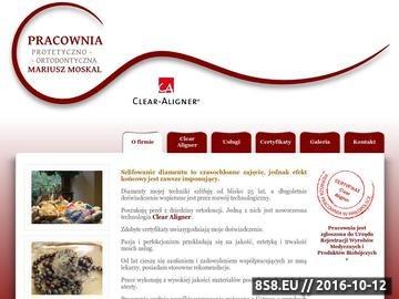 Zrzut strony Mariusz Moskal - Clear Aligner, protetyka, ortodoncja