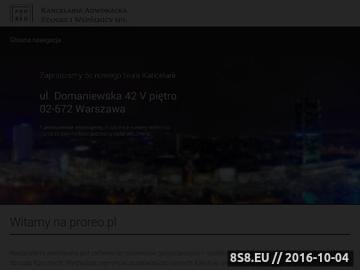 Zrzut strony Kancelaria Adwokacka PRO REO w Warszawie, adwokat Piotr Stan