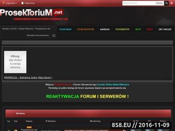 Zrzut strony Serwery CS Prosektorium.net