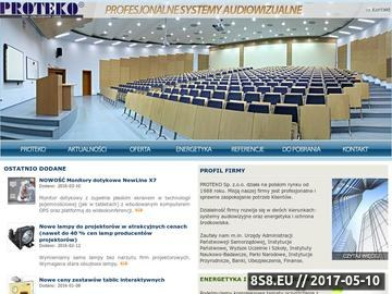 Zrzut strony Tablice interaktywne, projektowanie systemów av - Proteko
