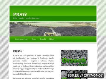 Zrzut strony Surowce opałowe PRSW Sp. z o.o.