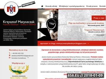 Zrzut strony Detektywi Warszawa na zdrady i nie tylko - profesjonaliści z Agencji MAXIMUS