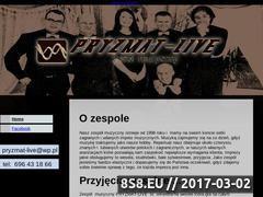 Miniaturka domeny www.pryzmat-live.cba.pl