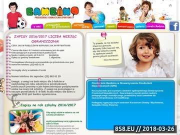 Zrzut strony Przedszkole Edukacyjno-Sportowe Bambino Ursus