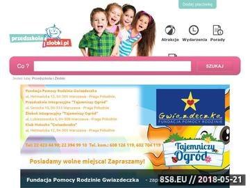 Zrzut strony Przedszkolaizlobki.pl - ranking przedszkoli