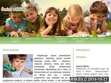 Zrzut strony Edukacja przedszkolna