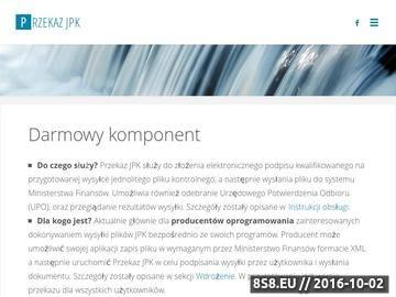 Zrzut strony Darmowy komponent do wysyłki dokumentów JPK