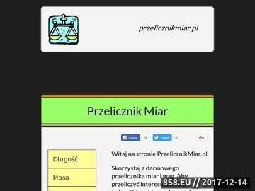 Zrzut strony Przelicznik miar