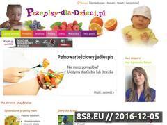 Miniaturka domeny www.przepisy-dla-dzieci.pl