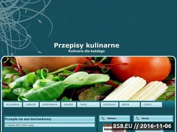 Zrzut strony Przepisy kulinarne