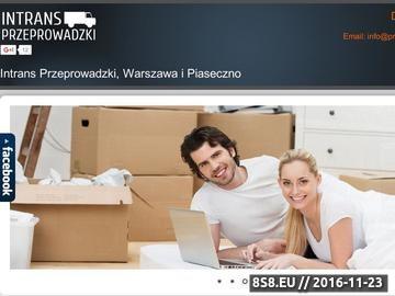 Zrzut strony Tanie przeprowadzki biur i firm - cennik - Warszawa, Piaseczno