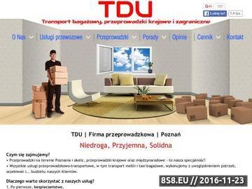 Zrzut strony Transport przeprowadzki Poznań