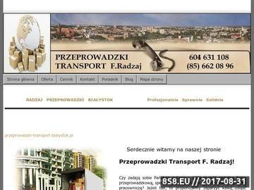 Zrzut strony Przeprowadzki Transport Pianina Bialystok F.Radzaj tel.604 631 108