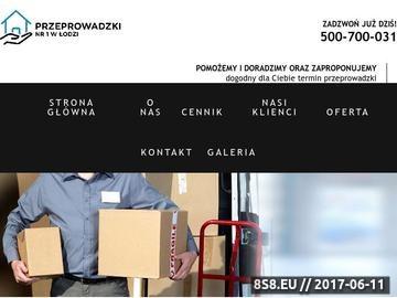 Zrzut strony Przeprowadzki nr 1 w Łodzi