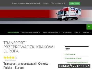 Zrzut strony Usługi transportowe - Przewłocki & Spółka