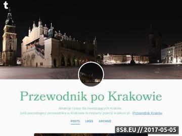Zrzut strony Przewodnik po Krakowie