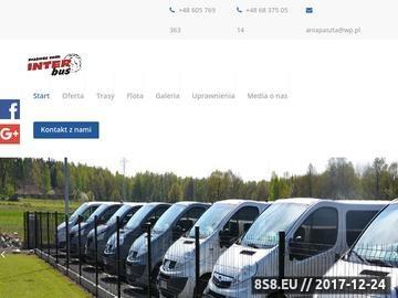 Zrzut strony Inter Bus -  busy i wynajem busów