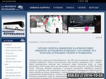 Zrzut strony Wynajem autokarów i busów Warszawa