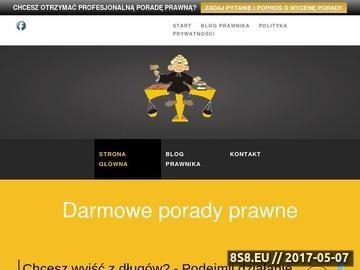 Zrzut strony Darmowe porady prawnicze