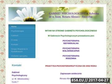 Zrzut strony Psychoterapeuta w Rybniku