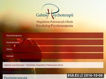 Zrzut strony Porady psychologiczne, psychoterapia - gabinet psychoteraputyczny
