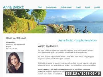 Zrzut strony Anna Babicz - psychoterapeuta Warszawa