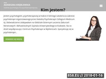 Zrzut strony Agnieszka Kręblewska - psychoterapia indywidualna Kraków