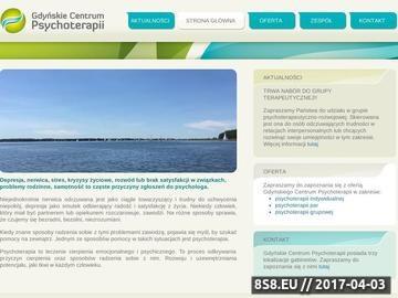 Zrzut strony Gdyńskie Centrum Psychoterapii