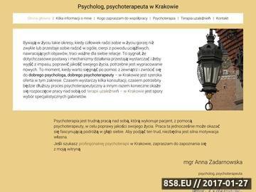 Zrzut strony Psycholog Kraków
