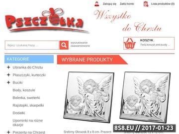 Zrzut strony Ubranka do Chrztu, buciki, szatki, świece, dodatki oraz upominki