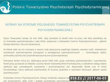 Zrzut strony Organizacja psychoterapii