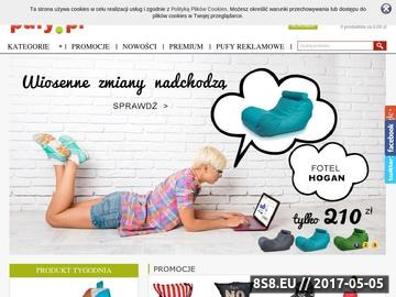 Zrzut strony Pufy.pl - fotele sportowe