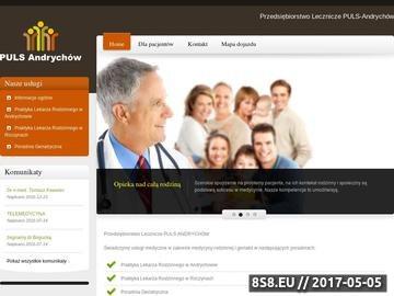 Zrzut strony Puls - przychodnia lekarza geriatry Andrychów, Wadowice i Kęty