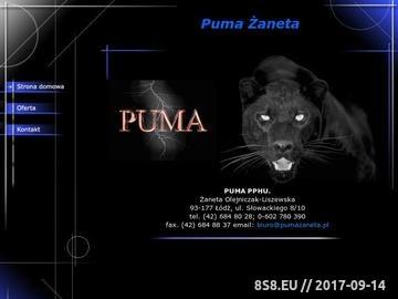 Zrzut strony Puma - karmy dla kotów