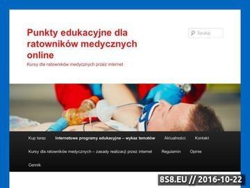Zrzut strony E-learning ratownik medyczny