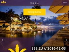 Boutique Resort and Spa in Senggigi Lombok Website