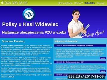 Zrzut strony Ubezpieczenia Łódź