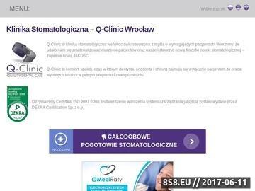Zrzut strony Usługi dentystyczna we Wrocławiu