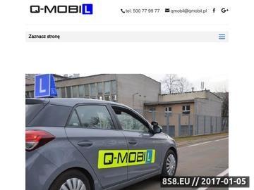 Zrzut strony Nauka jazdy Warszawa, ul. Radarowa, Odlewnicza, Powstańców Śląskich OSK QMobil