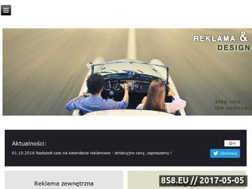 Zrzut strony Strona domowa agencji reklamowej