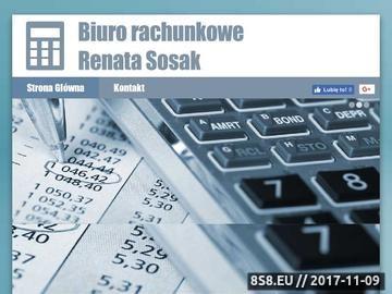 Zrzut strony Biuro rachunkowe R.SOSAK Olsztyn