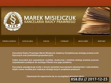 Zrzut strony Kancelaria Radcy Prawnego Opole