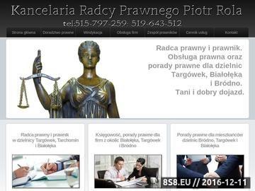 Zrzut strony Porady prawne w dzielnicy Białołęka. Prawnik i Radca Prawny.