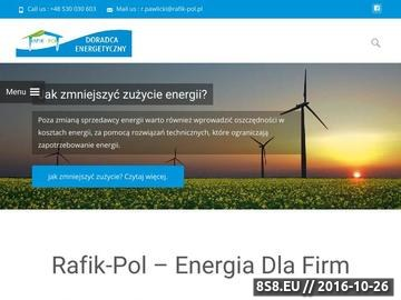 Zrzut strony Rafik-Pol - dostawcy prądu