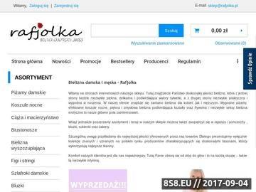 Zrzut strony Sklep internetowy z bielizną