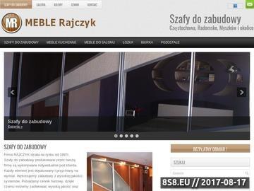 Zrzut strony Szafy do zabudowy na miarę -Rajczyk