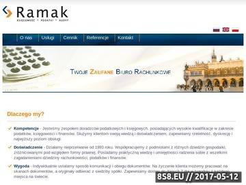 Zrzut strony Obsługa księgowa RAMAK