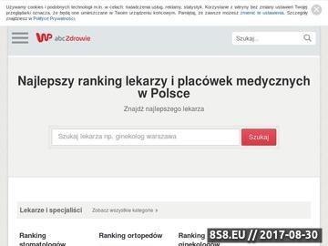 Zrzut strony Ranking ginekologów